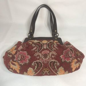 Forever by Fossil Floral Tapestry Handbag